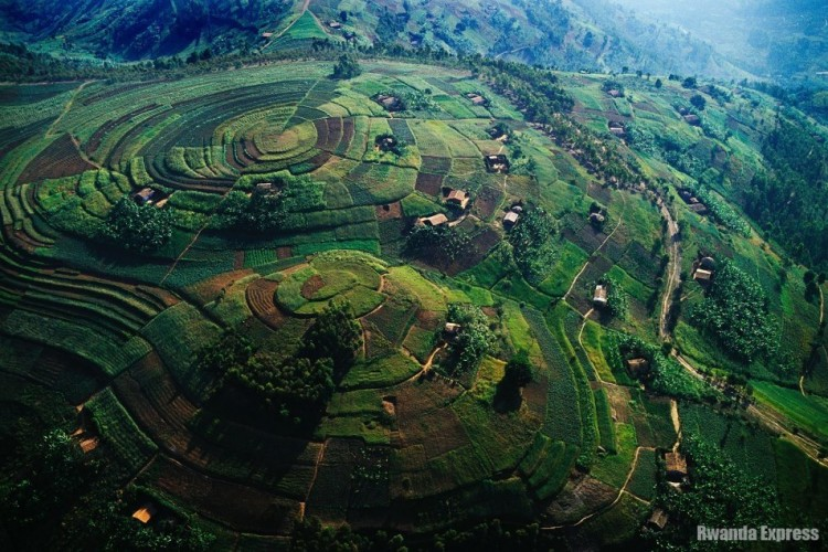 beautiful Rwanda aerial photo