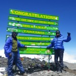 On the top of Kilimanjaro the 27 th of January 2013