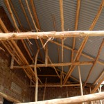 roof detail with round timber